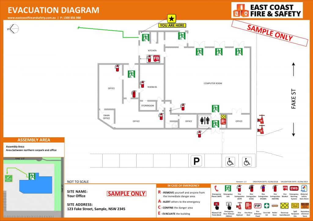 Evacuation Diagram Fire Protection Solutions Australia